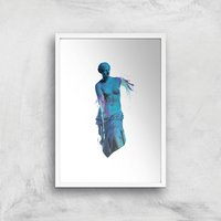 Ancient Accident Art Print - A3 - White Frame