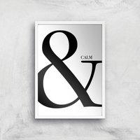 & Calm Art Print - A3 - White Frame