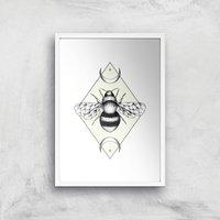 Bee Confident Art Print - A3 - White Frame