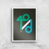 40 / D Match Point Art Print - A3 - White Frame