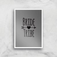Bride Tribe Art Print - A3 - White Frame