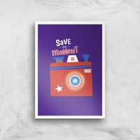 Save The Moment Art Print - A3 - White Frame