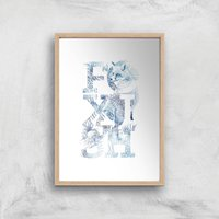 Foxish Art Print - A3 - Wood Frame