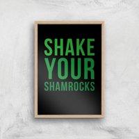 Shake Your Shamrocks Art Print - A3 - Wood Frame