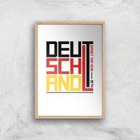 Deutschland Art Print - A3 - Wood Frame