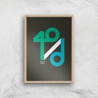 40 / D Match Point Art Print - A3 - Wood Frame