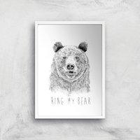 Balazs Solti Ring My Bear Art Print - A3 - White Frame