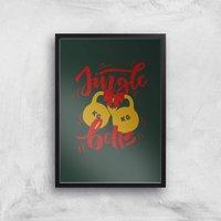 Jingle (Kettle) Bells Art Print - A4 - Black Frame