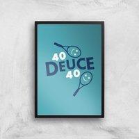 40 Deuce 40 Art Print - A4 - Black Frame