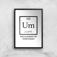 The Element Of Confusion Art Print - A4 - Black Frame