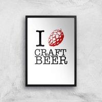 I Hop Craft Beer Art Print - A4 - Black Frame