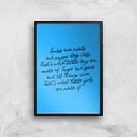 Snips And Snails Rhyme Art Print - A4 - Black Frame