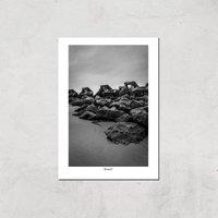 Wave Breaker, New Brighton Giclee Art Print - A3 - Print Only