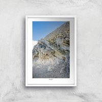 Llandudno Staircase Giclee Art Print - A4 - White Frame