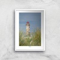 Talacre Lighthouse Giclee Art Print - A4 - White Frame