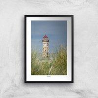 Talacre Lighthouse Giclee Art Print - A2 - Black Frame