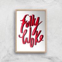 Rock On Ruby Fully Woke Art Print - A3 - Wood Frame