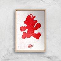 Nintendo Lets A Go Go Art Print - A3 - Wood Frame