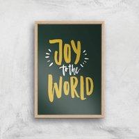 Joy To The World Art Print - A3 - Wood Frame