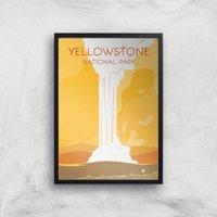 Visit... Yellowstone Giclee Art Print - A3 - Black Frame
