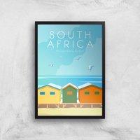 Visit... South Africa Giclee Art Print - A2 - Black Frame