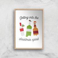 Getting Into The Christmas Spirit Art Print - A3 - Wood Frame - Christmas Gifts