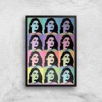 Image of Multi Colour Pop Girl Giclée Art Print - A2 - Black Frame