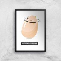 You're A Clumsy Egg Art Print - A4 - Black Frame