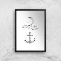 Anchor Your Dreams Art Print - A4 - Black Frame