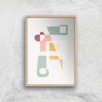 Get Into Shape Giclee Art Print - A2 - Wooden Frame