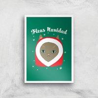 Fleas Navidad Art Print - A4 - White Frame