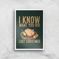 I Know What You Did Last Christmas Art Print - A4 - White Frame - Christmas Gifts