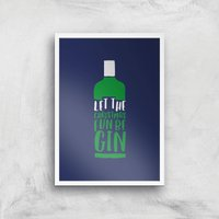 Let The Christmas Fun Be Gin Art Print - A4 - White Frame - Christmas Gifts