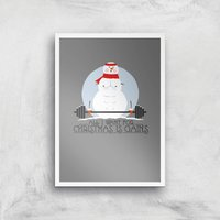 All I Want For Christmas Is Gains Art Print - A4 - White Frame - Christmas Gifts