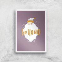 Christmas Santa Ho Ho Ho Art Print - A4 - White Frame - Christmas Gifts