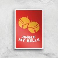 Jingle My Bells Art Print - A4 - White Frame