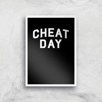 Cheat Day Art Print - A4 - White Frame