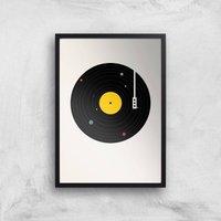 Florent Bodart Music Everywhere Art Print - A4 - Black Frame - Music Gifts