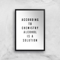 PlanetA444 Alcohol Is A Solution Art Print - A4 - Black Frame - Alcohol Gifts