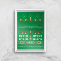 Nintendo It's Dangerous To Go Alone Art Print - A4 - White Frame - Computer Games Gifts