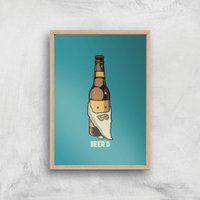 Beer'd Art Print - A4 - Wood Frame - Alcohol Gifts