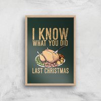 I Know What You Did Last Christmas Art Print - A4 - Wood Frame - Christmas Gifts
