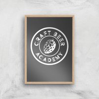 Craft Beer Academy Art Print - A4 - Wood Frame - Beer Gifts