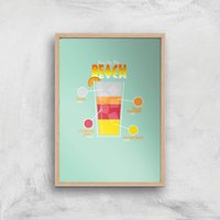 Infographic Sex On The Beach Art Print - A4 - Wood Frame - Sex Gifts