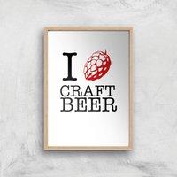 I Hop Craft Beer Art Print - A4 - Wood Frame - Beer Gifts