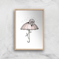 Breakthrough Art Print - A4 - Wood Frame