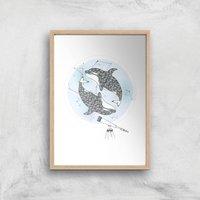 Orcalaxy Art Print - A4 - Wood Frame