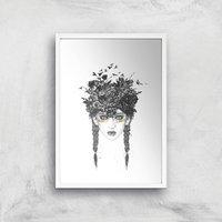 Balazs Solti Native Girl Art Print - A4 - White Frame