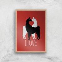 Llove Art Print - A4 - Wood Frame
