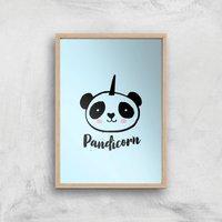 Pandicorn Art Print - A4 - Wood Frame